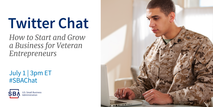 Twitter Chat: How to Start and Grow a Business for Veteran Entrepreneurs