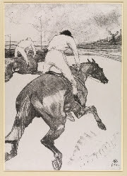 Henri de Toulouse-Lautrec (1864-1901), The Jockey, 1899, Lithograph, 51.5 x 36.3cm, The Courtauld Gallery, London