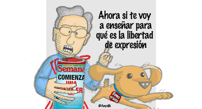 Uribe-Semana-Democracia-Anyelik-caricatura