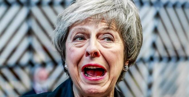 La primera ministra británica, Theresa May, en el Consejo Europeo, en Bruselas. / EFE