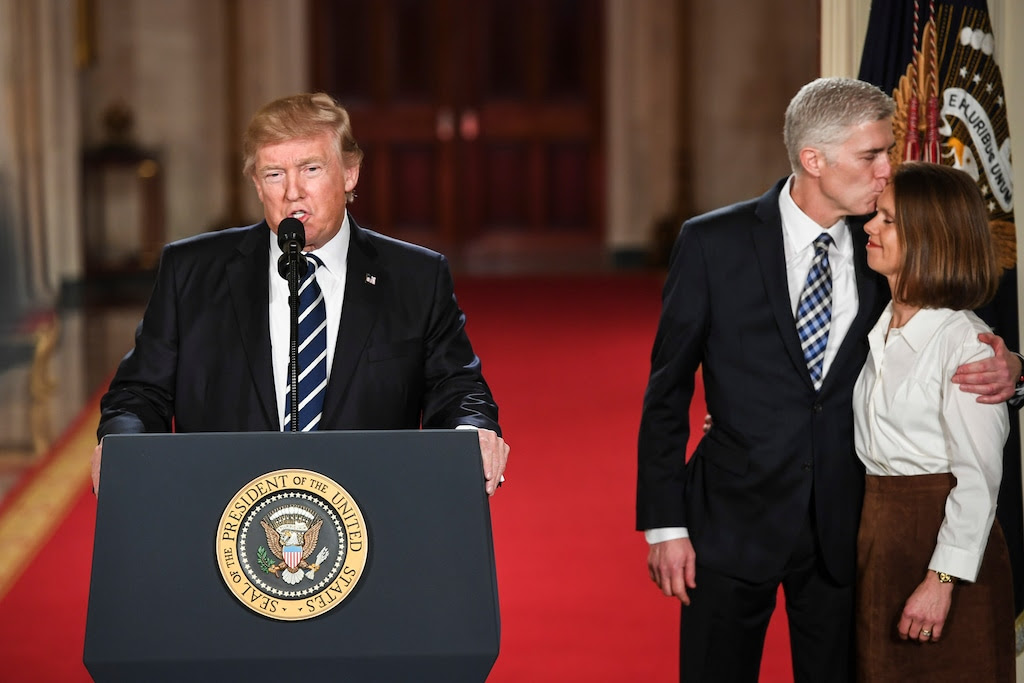 Trump talked about rescinding Gorsuch's nomination