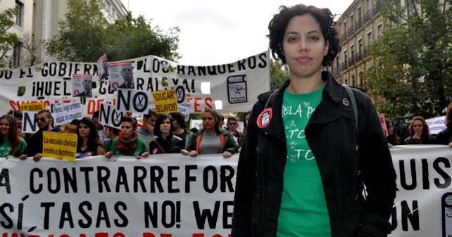 La secretaria general del Sindicato de Estudiantes, Ana García. ALEJANDRO TORRÚS
