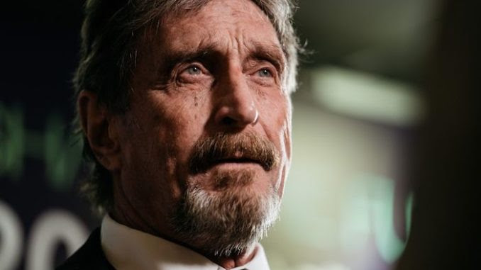 John McAfee has threatened to release files that expose corruption in Washington D.C. if the federal government continue harrassing him.