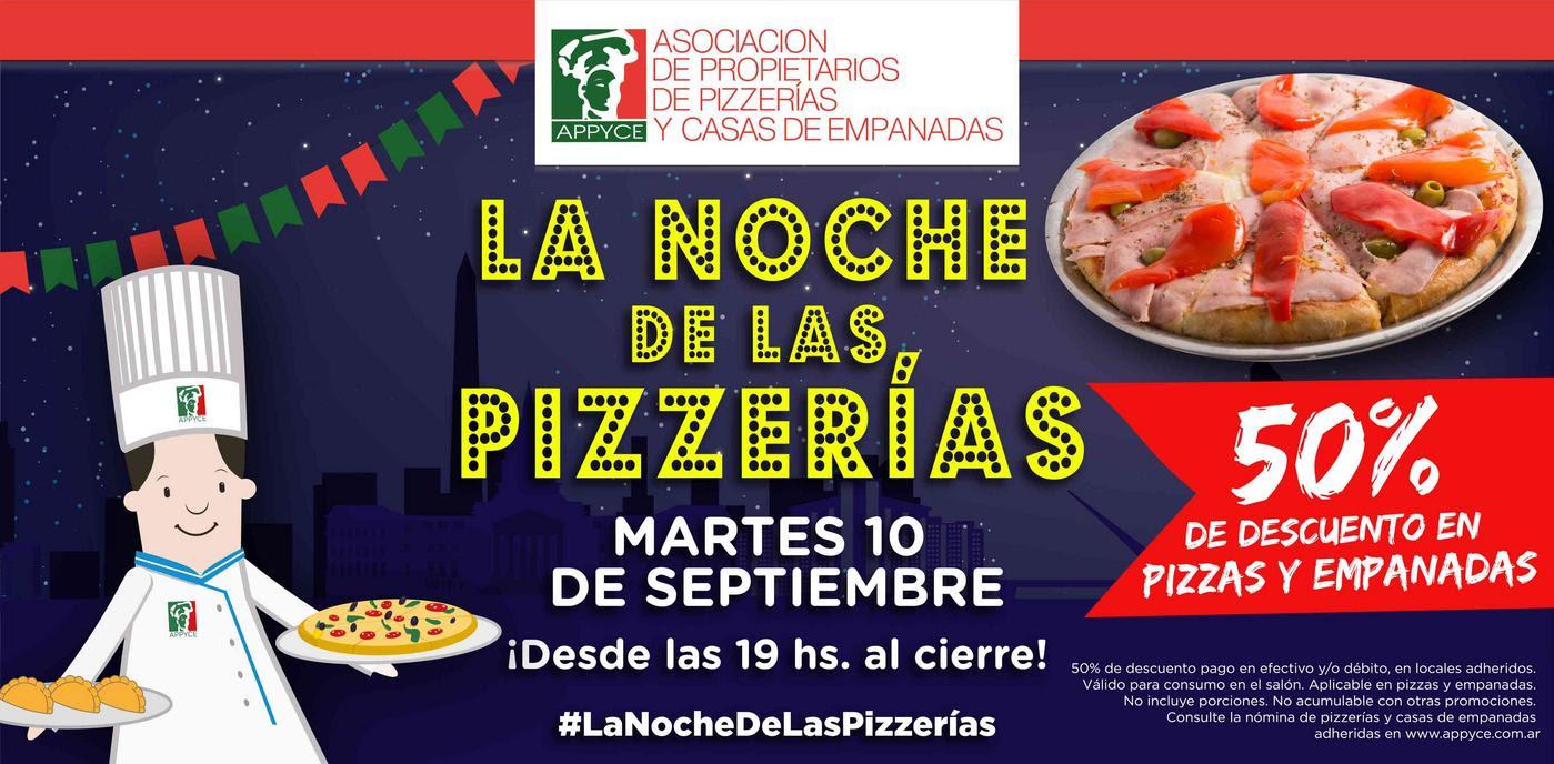 Noche de las pizzerias 2019 - Descuentos