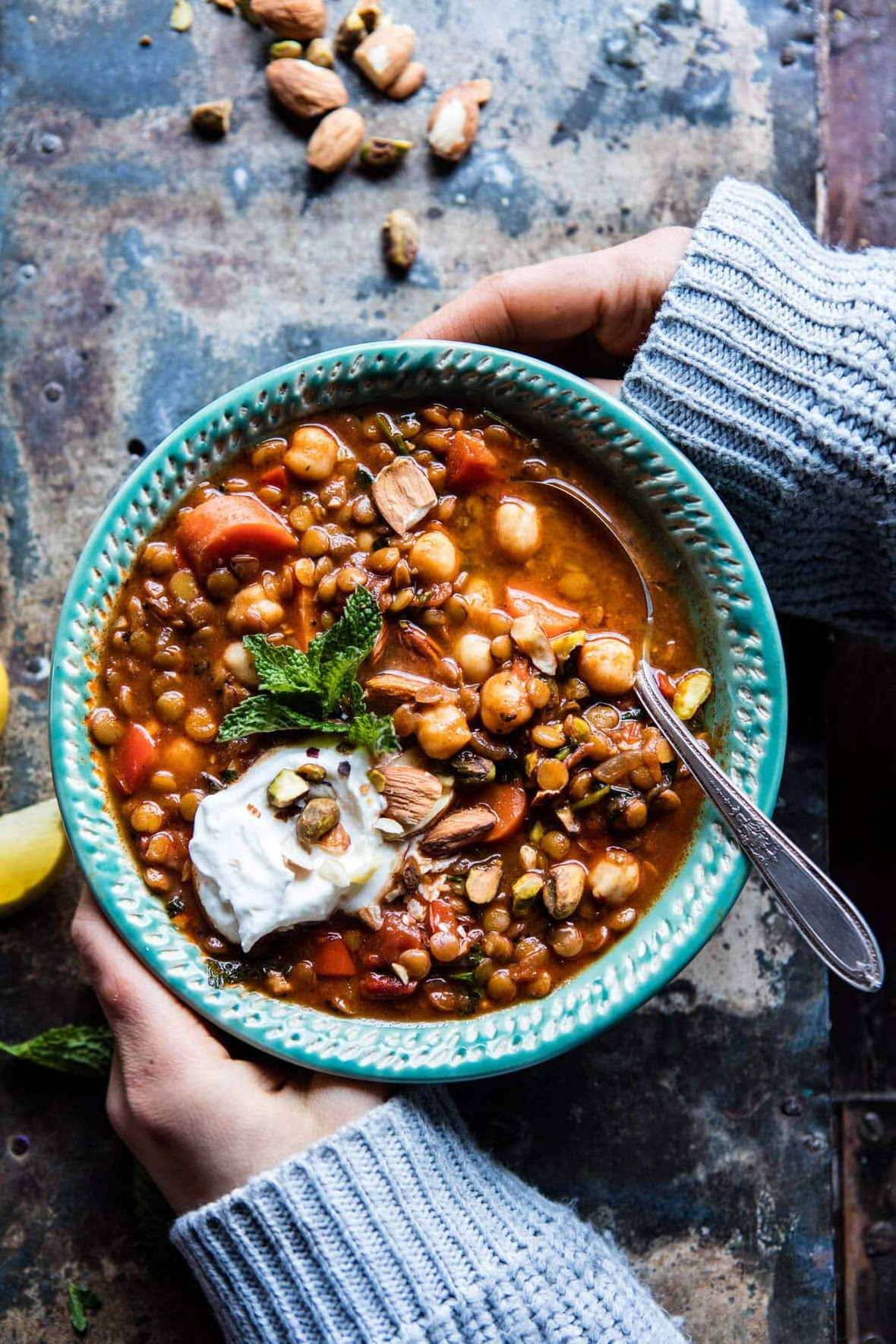 Crockpot-Moroccan-Lentil-and-Chickpea-Soup-1