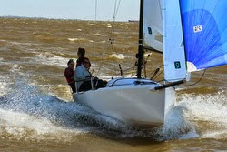 J/70 sailing Galveston Bay, Texas