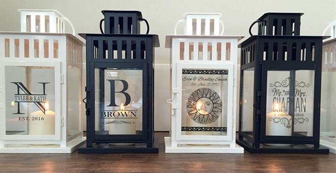 Personalized Candle Lanterns +...