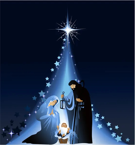 Kerststal Kerststal — Stockvector