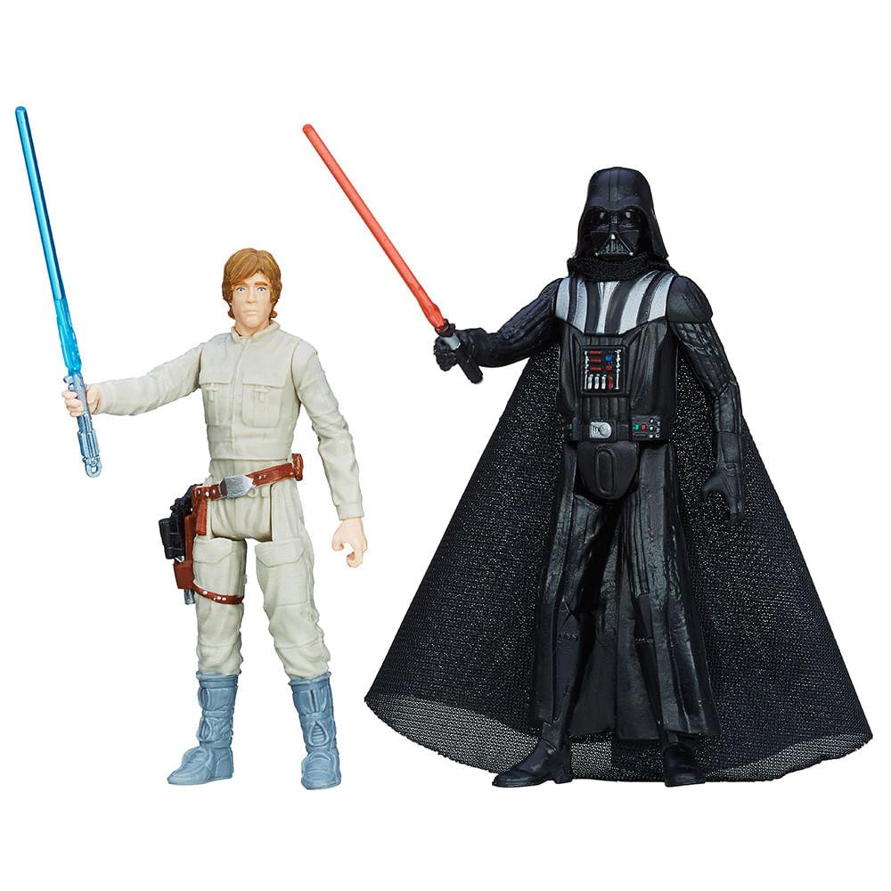 Star Wars Boneco Mission Luke Skywalker e Darth Vader - Hasbro