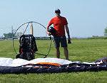 Powered Paragliding Filmed by Google Satellite