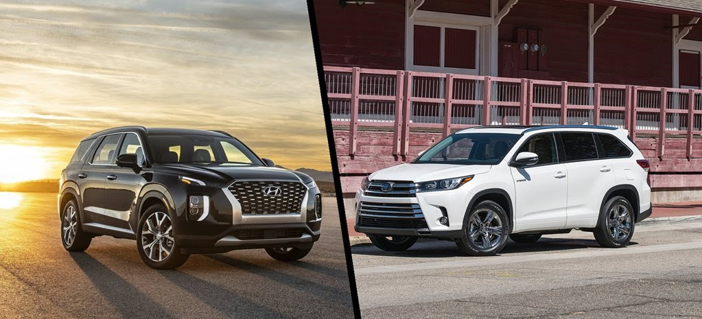 How do the Toyota Kluger and Hyundai Palisade stack up?