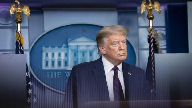 Donald Trump em coletiva de imprensa