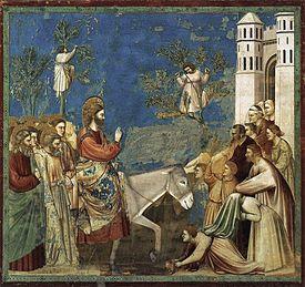 Giotto di Bondone - No. 26 Scenes from the Life of Christ - 10. Entry into Jerusalem - WGA09206.jpg