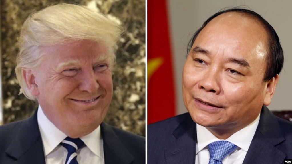 Tổng thống Mỹ Donald Trump và Thủ tướng Việt Nam Nguyễn Xuân Phúc