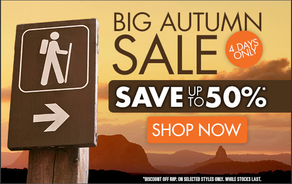 Save Up to 50% OFF Autumn Storewide Gear Sale + Free Shipping On Orders Over $99 at Wildearth.com.au