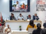 Varios paticipantes e invitados asisten a la cumbre sobre el cambio climático (COP24) que se celebra en la ciudad de Katowice, Polonia.