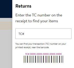 Walmart return website