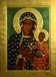 Znalezione obrazy dla zapytania Matka Boża Częstochowska obrazy