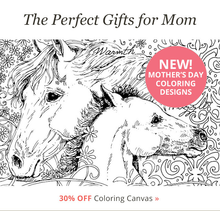 Mother's Day Coloring Canvas Designs