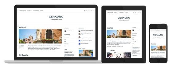 Cerauno's responsive design in action