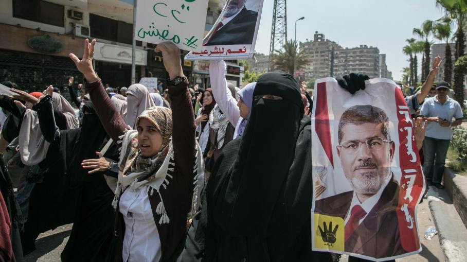 Des manifestants pro-Morsi, le 8 août 2014 au Caire.
