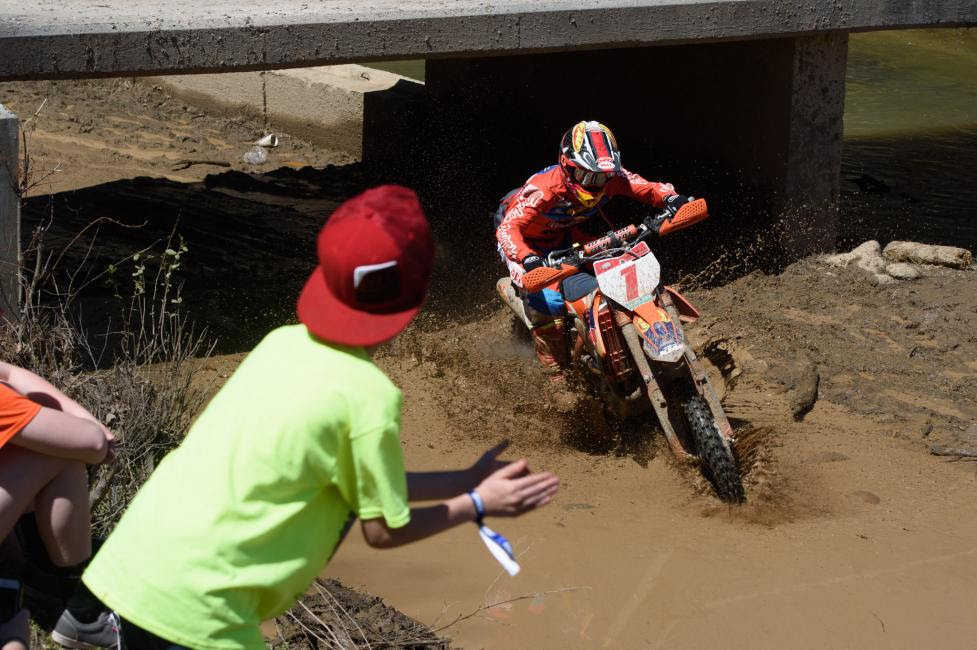 Kailub Russell made in three-in-a-row at the FMF Steele Creek GNCC.