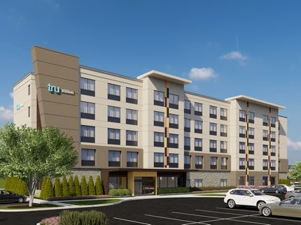 A rendering of the new Tru by Hilton hotel that Springwood Hospitality is building in Derry Township.