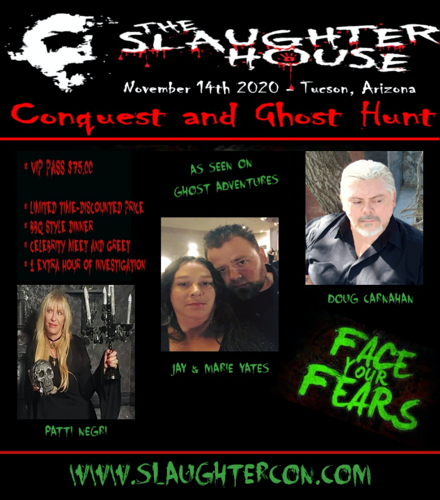 SlaughterCon flyer featuring all guests