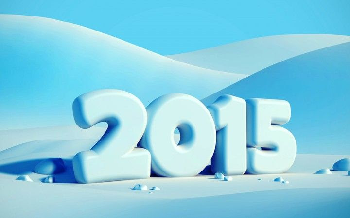 Happy New Year 2015 On Snow