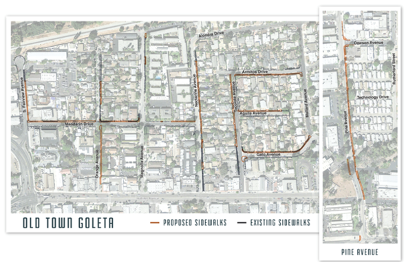 Old Town Sidewalk Map