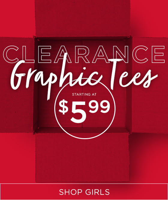 Clearance Graphic Tees Shop Girls