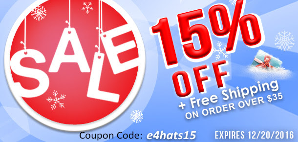 e4Hats: 15% OFF SALE for limit...
