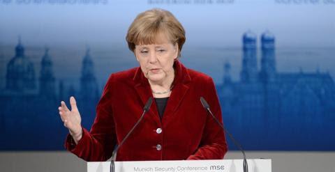 Merkel, durante la conferencia de seguridad en Múncih. EFE/EPA/ANDREAS