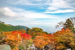 ミシュラン・グリーンガイドに登録された、 大山阿夫利神社下社からの絶景