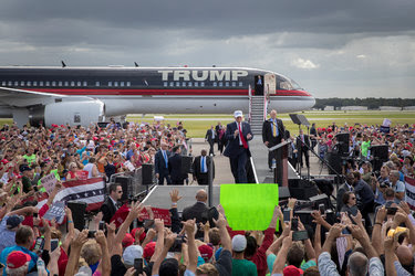 Donald J. Trump spoke to supporters at a rally in Lakeland, Fla., on Wednesday.
