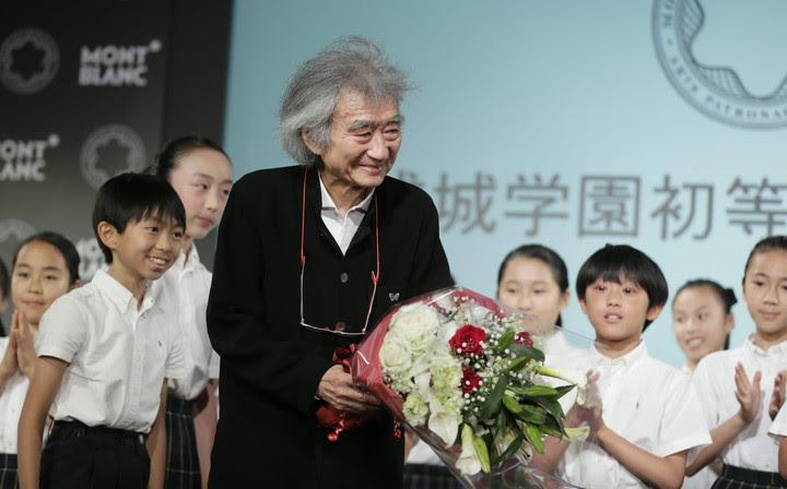 El director de orquesta japonés Seiji Ozawa tiene 85 años. Foto EFE.