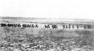 תמונת מתקפת הפרשים בקרב באר שבע המתעדת את מתקפת הפרשים הקלים האוסטרלים. אותנטיות הצילום שנויה במחלוקת.