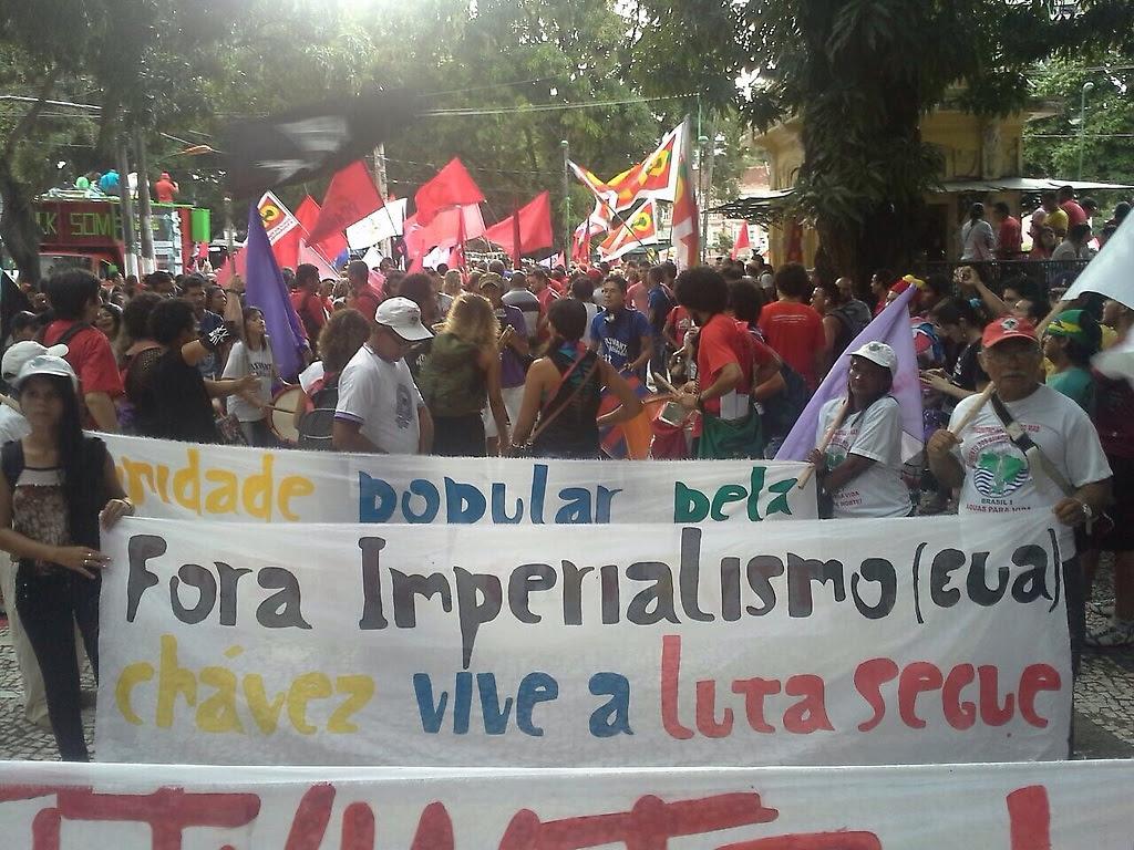 Movilización en apoyo al gobierno de la Presidenta DilmaRousseff y a Venezuela