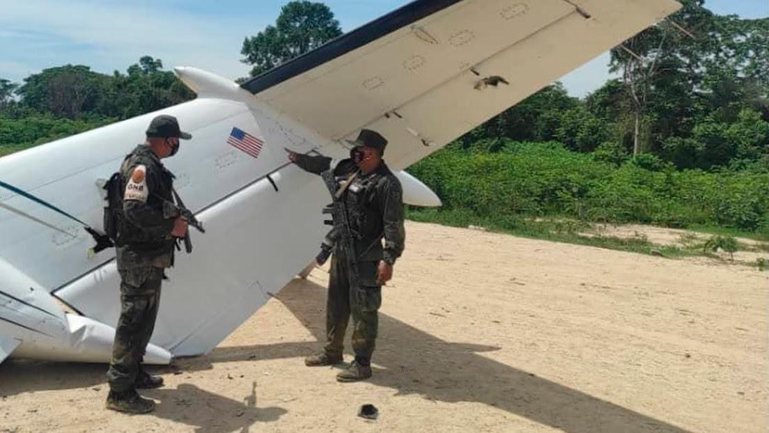 Venezuela derriba una aeronave de narcotráfico con matrícula estadounidense que ingresó ilegalmente en su espacio aéreo
