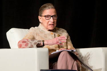 Justice Ruth Bader Ginsburg of the Supreme Court in May. In an interview in her chambers on Friday, she chastised the Senate for refusing to act on President Obama's Supreme Court nominee.