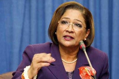 La Primera Ministra de Trinidad y Tobago Kamla Persad-Bissessar