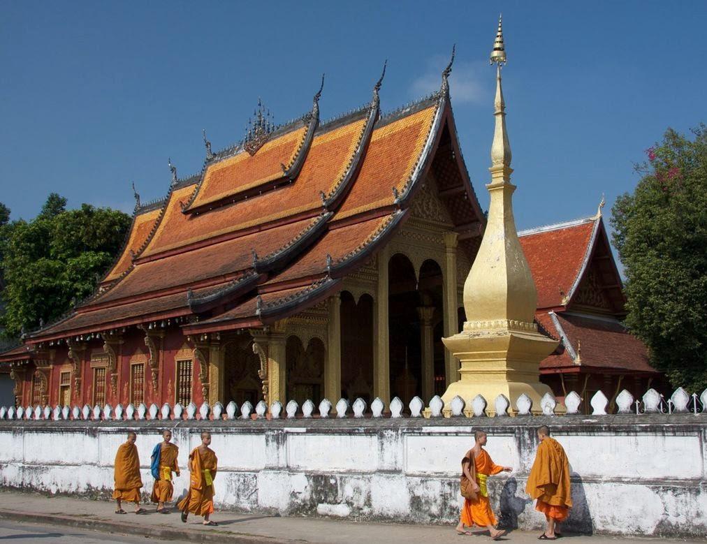 Buddhist temple in Luang Prabang, Laos. (Wikipedia)