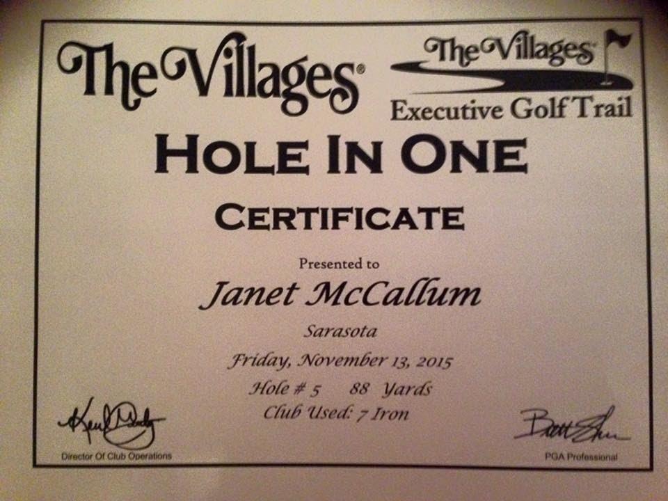 McCallum hole in one
