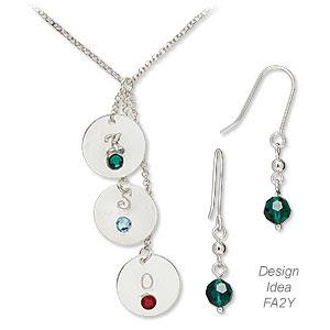 Single-Strand Necklace and Earrings Set(Design Idea FA2Y)