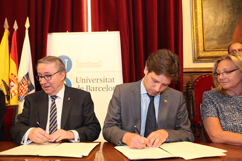 The university of Barcelona and Ecuadorian universities signed an cooperation agreement