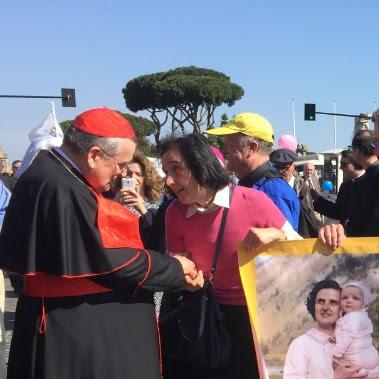 His Eminence Cardinal Burke and Gianna Emanuela Molla