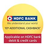 10% Additional cashback* with HDFC Bank Debit & Credit Cards