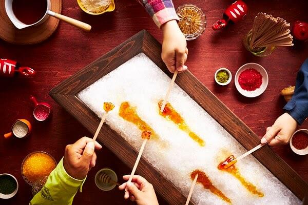【磐梯山温泉ホテル】白銀のゲレンデで楽しむ会津のおやつタイム「雪原の飴よばれ会」登場