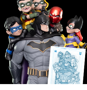 Q-MASTER BATMAN FAMILY BBTS SHARED EXCLUSIVE ARTIST'S SIGNATURE EDITION DIORAMA