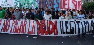 """""""No al pago de la deuda externa ilegítima"""""""